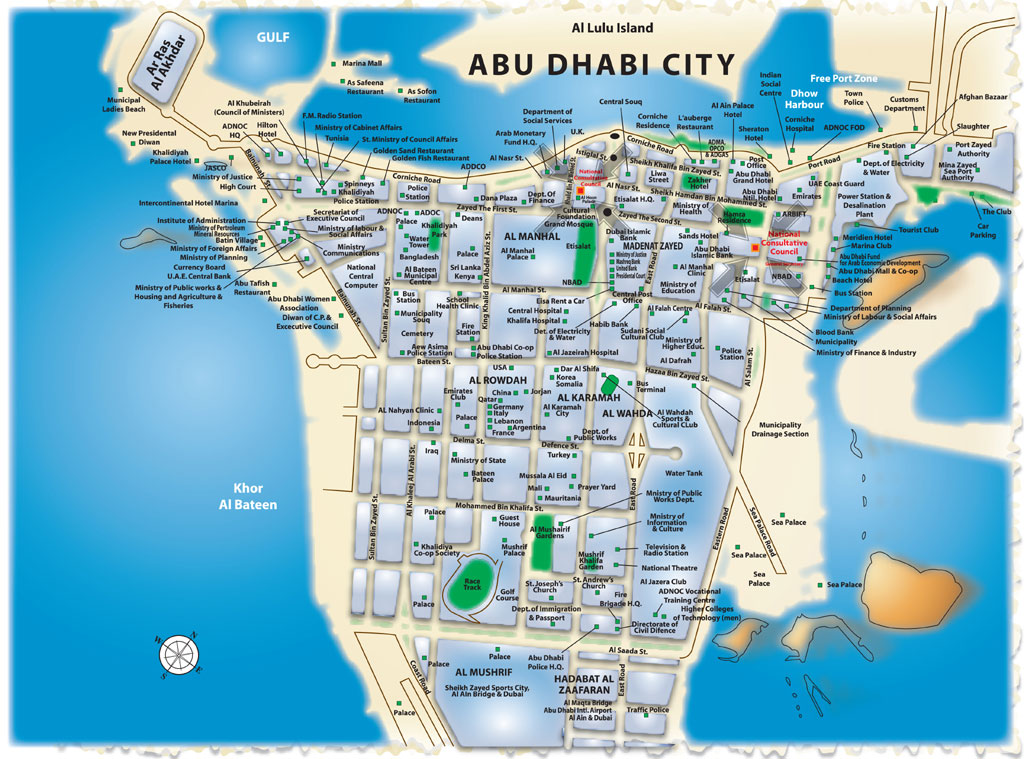Map Of Abu Dhabi, Check Out Map Of Abu Dhabi : cnTRAVEL Abu Dhabi Map